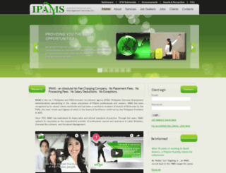 ipamsjobs.com screenshot
