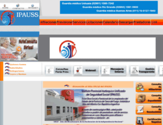 ipauss.gov.ar screenshot