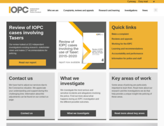 ipcc.gov.uk screenshot
