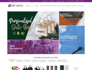 ipcgifts.com screenshot