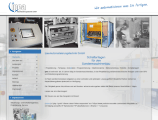 ipea-gmbh.de screenshot