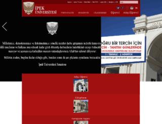 ipek.edu.tr screenshot