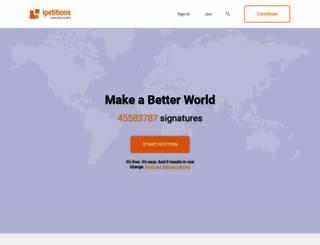 ipetitions.com screenshot