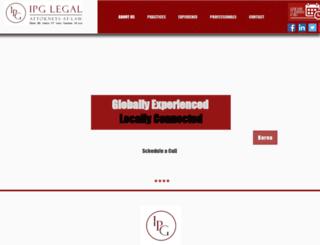 ipglegal.com screenshot