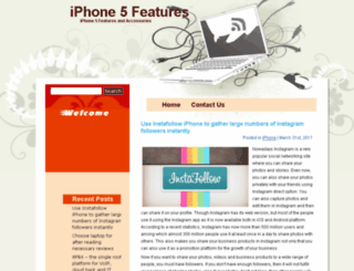 iphone-5-features.com screenshot