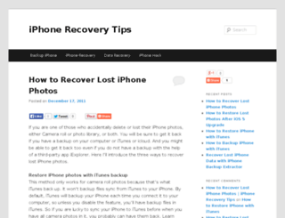 iphone-recovery-tips.com screenshot