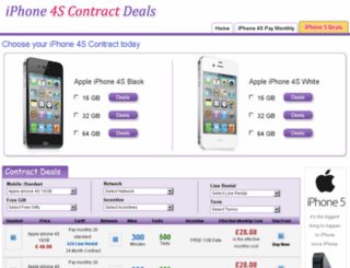 iphone4scontractdeals.co.uk screenshot