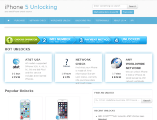 iphone5unlocking.com screenshot