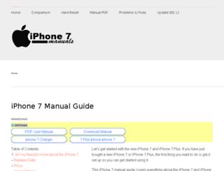 iphone7manuals.com screenshot