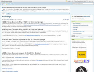 iphonedevcampcolorado.pbwiki.com screenshot