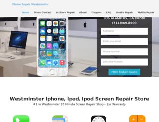 iphonerepairwestminster.com screenshot