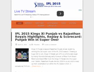 ipl-2015-live.com screenshot