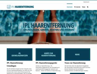 ipl-haarentfernung.at screenshot