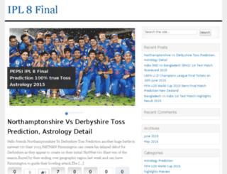 ipl8finalprediction.com screenshot