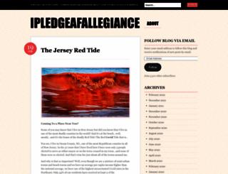 ipledgeafallegiance.wordpress.com screenshot