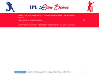 ipllivescore2016.com screenshot