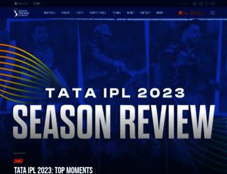 iplt20.com screenshot