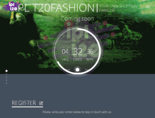 iplt20fashion.com screenshot