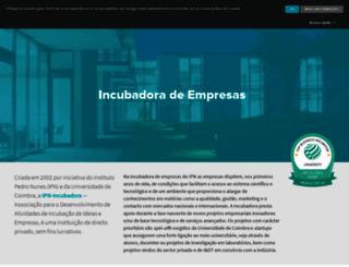 ipn-incubadora.pt screenshot