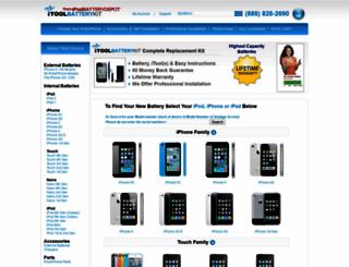 ipodbatterydepot.com screenshot