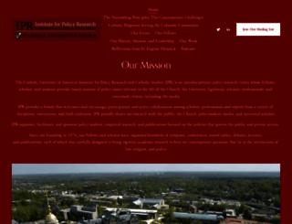 ipr.cua.edu screenshot