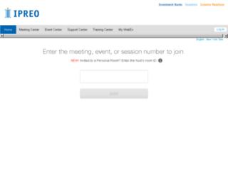 ipreo.webex.com screenshot