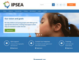 ipsea.org.uk screenshot