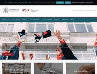 ipsir.uw.edu.pl screenshot
