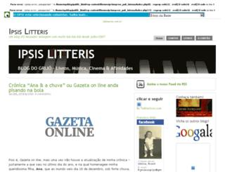 ipsislitteris.opsblog.org screenshot