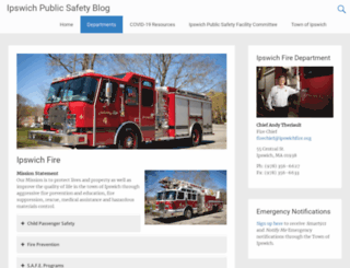 ipswichfire.org screenshot