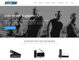 iptv4less.com screenshot