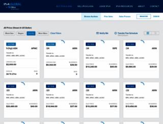 ipv4auctions.com screenshot