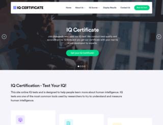 iqcertificate.org screenshot