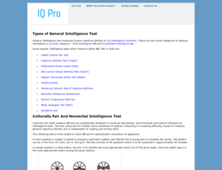 iqpro.org screenshot