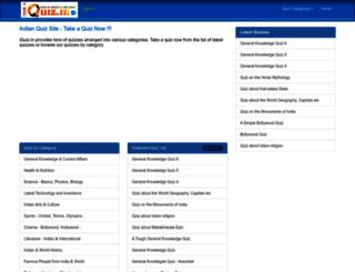 iquiz.in screenshot