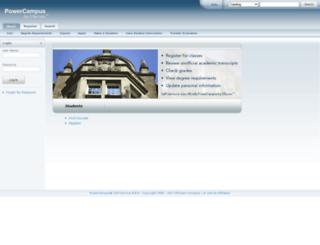 iqweb.thiel.edu screenshot