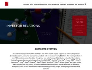 ir.accobrands.com screenshot