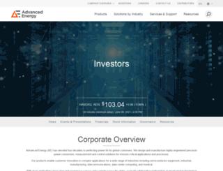 ir.advanced-energy.com screenshot