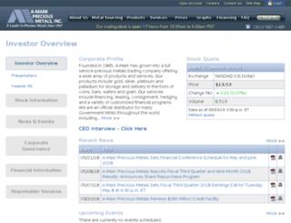 ir.amark.com screenshot