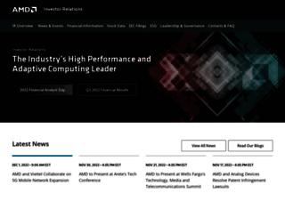 ir.amd.com screenshot