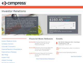 ir.cimpress.com screenshot