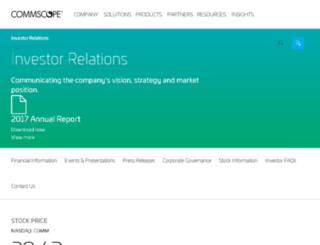 ir.commscope.com screenshot
