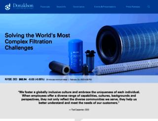 ir.donaldson.com screenshot