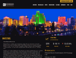 ir.eldoradoresorts.com screenshot