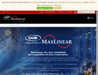 ir.exar.com screenshot