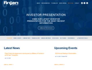 ir.finjan.com screenshot