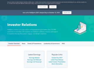 ir.hubspot.com screenshot