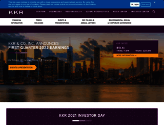ir.kkr.com screenshot