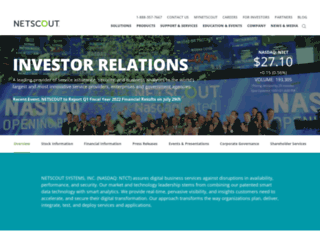 ir.netscout.com screenshot