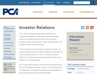 ir.packagingcorp.com screenshot